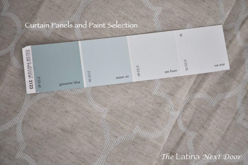 Paint Colors and Curtain Panels Up Close