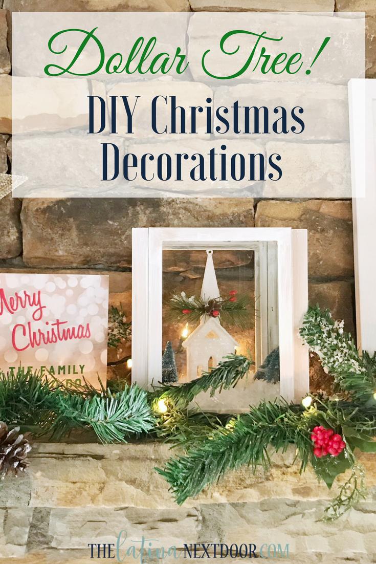 Diy Christmas Decorations Using Dollar Tree Products The Latina Next Door