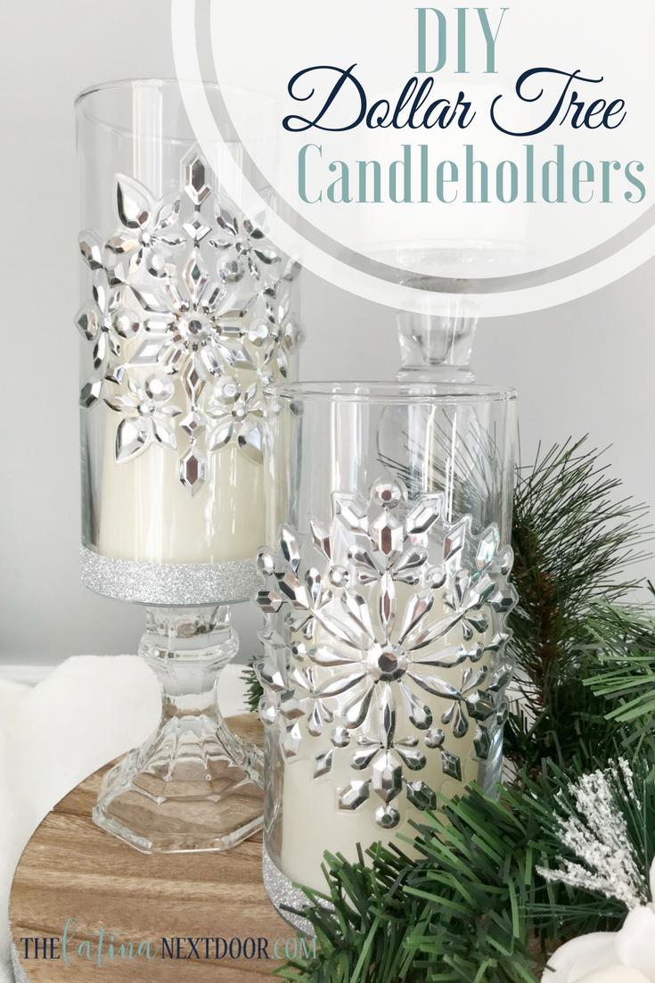 Dollar Tree Christmas Candleholders The Latina Next Door