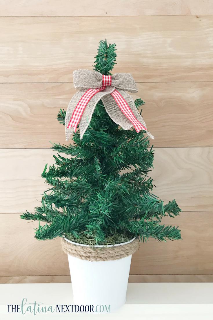DIY Dollar Tree Christmas Trees - The Latina Next Door