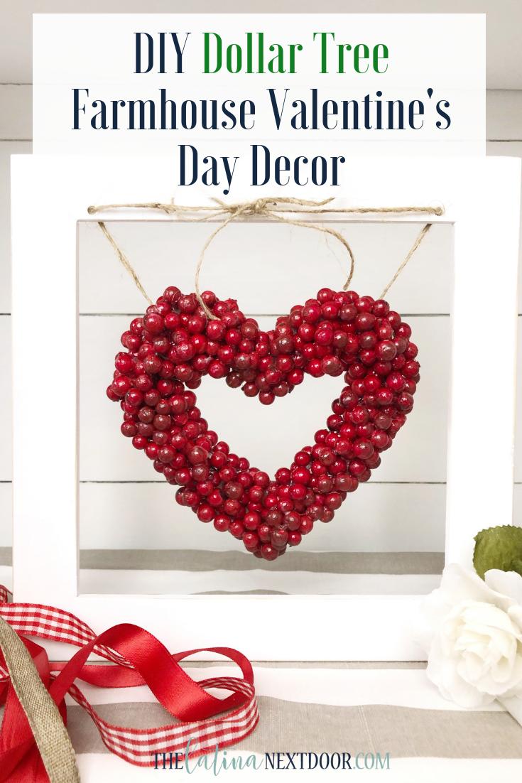Diy Dollar Tree Valentines Day Decor The Latina Next Door