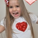 DIY Sequin Heart Tee 2   Valentines Day Project Gallery
